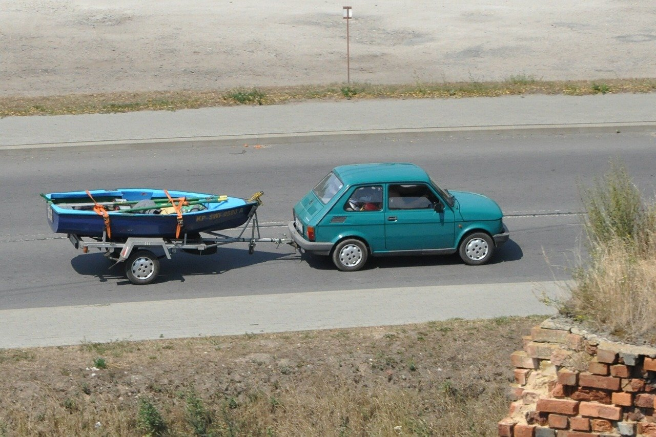 Polski Fiat su priekaba